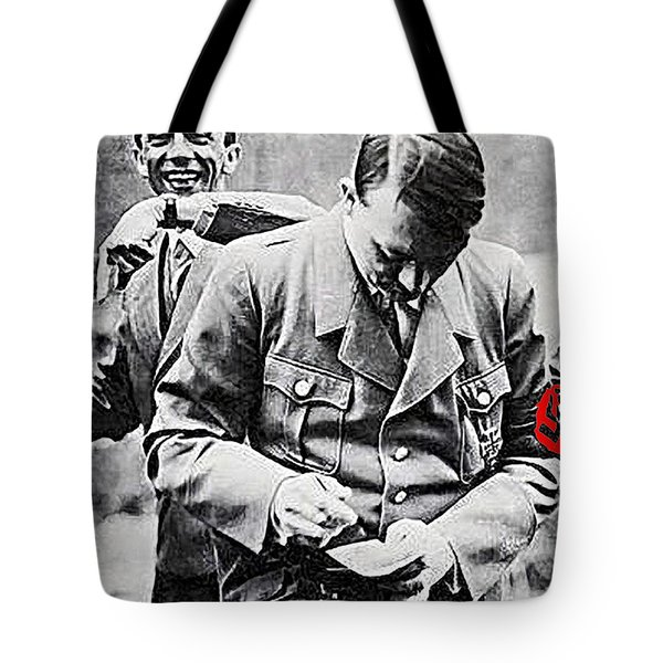 Hitler And Goebbels  As The German Chancellor Signs An Autograph  Tote Bag