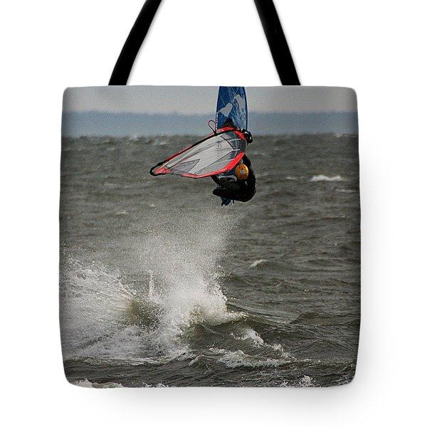 Hitting A Wave 1 Tote Bag