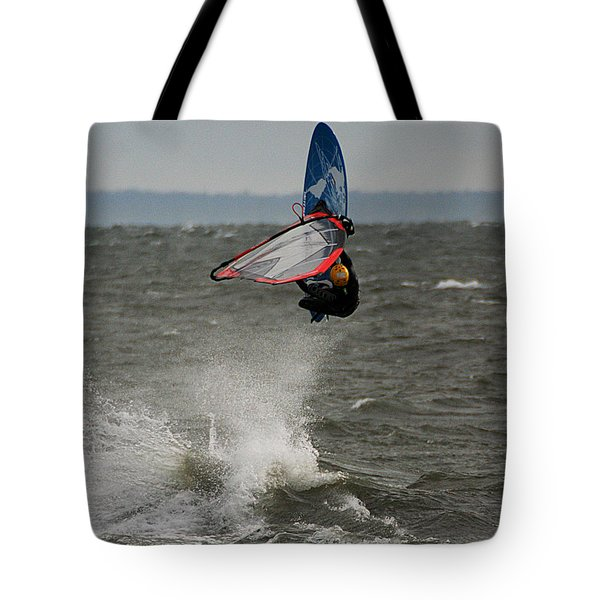 Hitting A Wave 1 Tote Bag