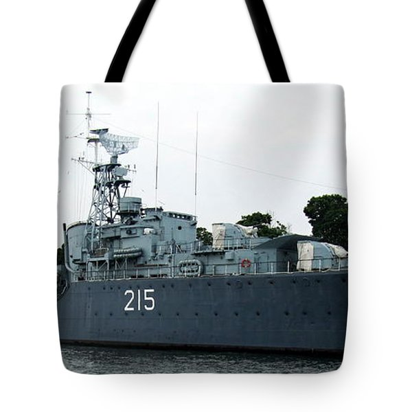 Hmcs Haida Twin Gun Tribal Class Destroyer  Tote Bag