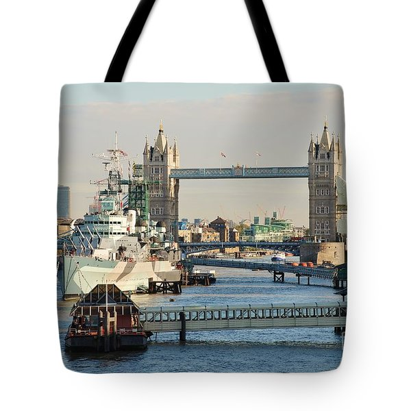 Hms Belfast London Tote Bag