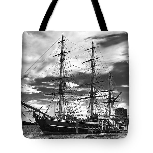 Hms Bounty Singer Island Tote Bag by Debra and Dave Vanderlaan