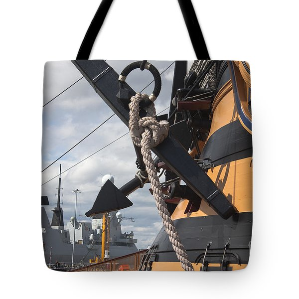 Hms Diamond And Hms Victory Tote Bag