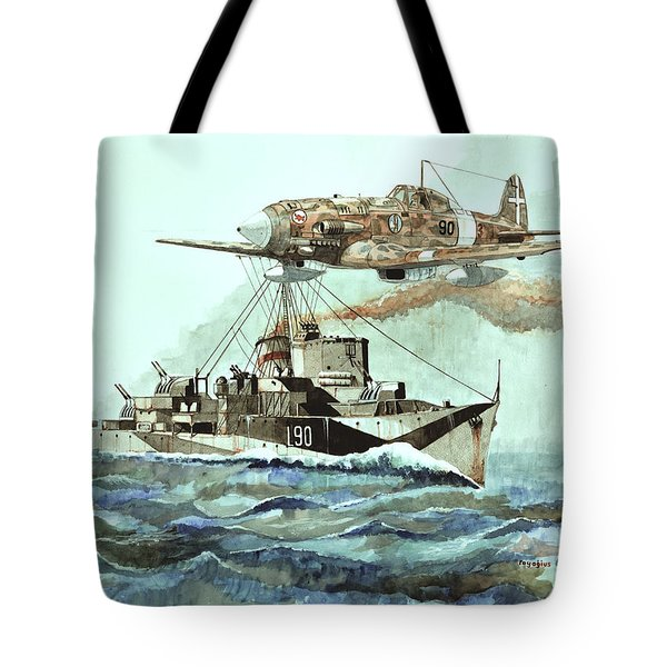 Hms Ledbury Tote Bag by Ray Agius