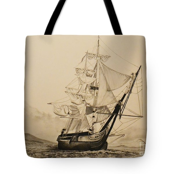 Hms Surprise Tote Bag by John Huntsman