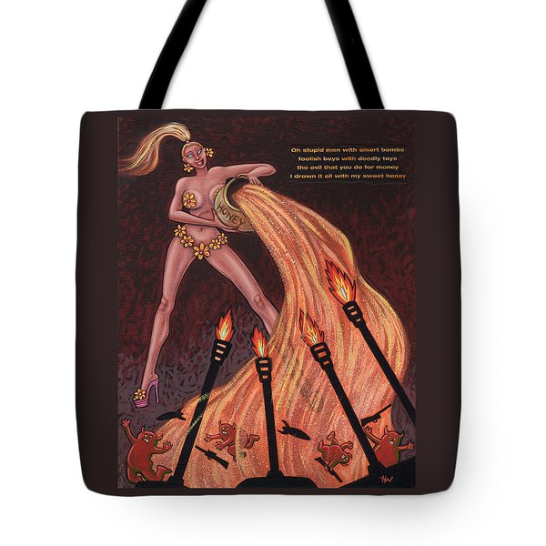 Ho' Goes To War Tote Bag