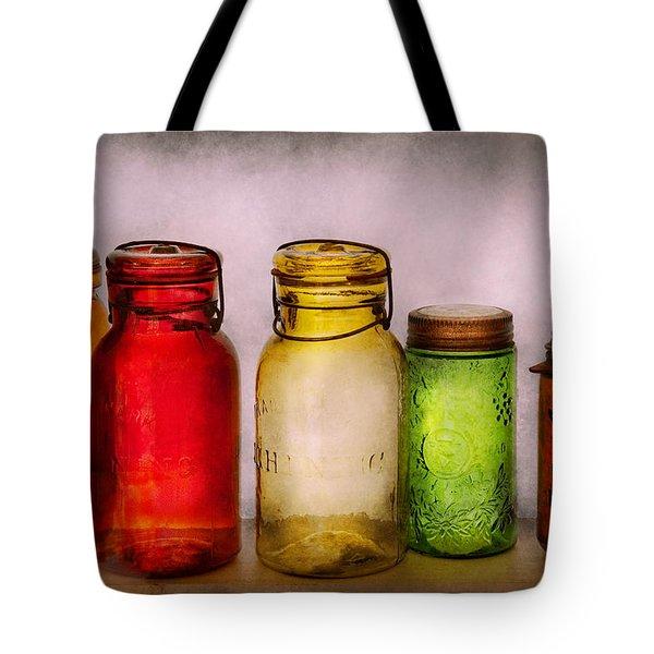 Hobby - Jars - I'm A Jar-aholic  Tote Bag by Mike Savad