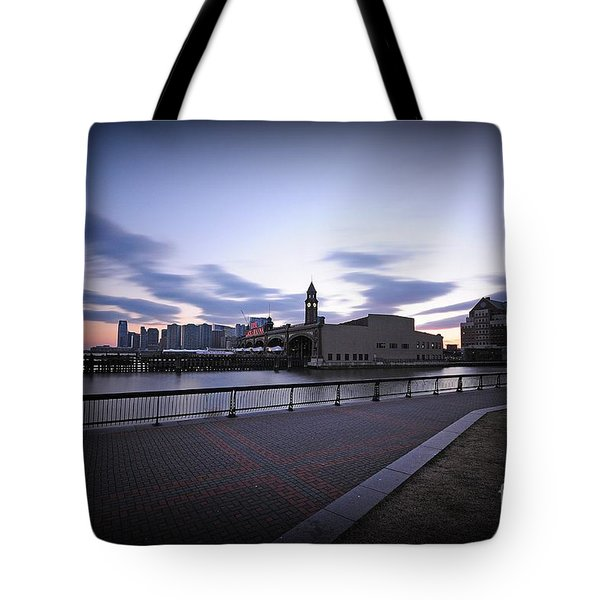 Hoboken Overlooking The Ferry Tote Bag by Paul Ward