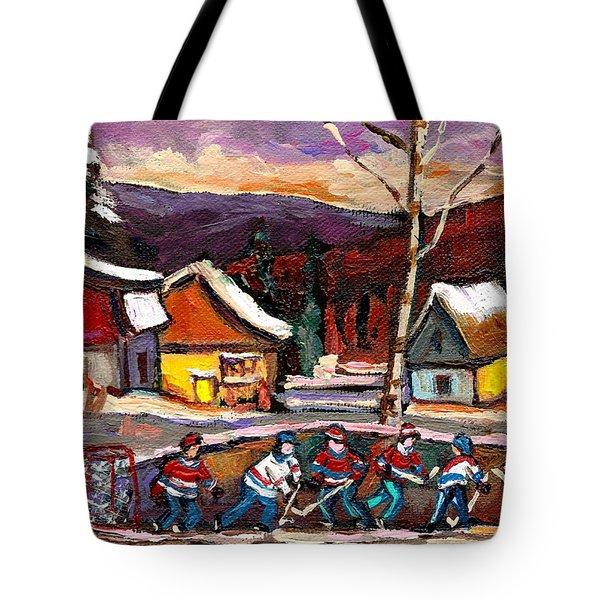 Hockey 4 Tote Bag by Carole Spandau