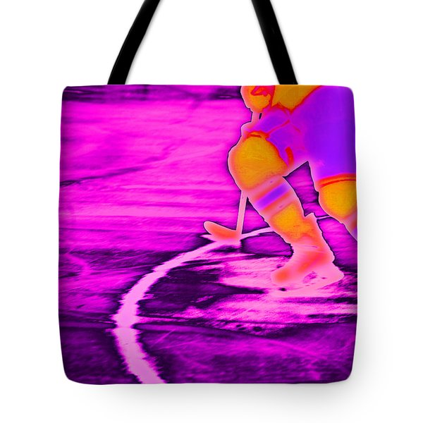 Hockey Freeze Tote Bag by Karol Livote