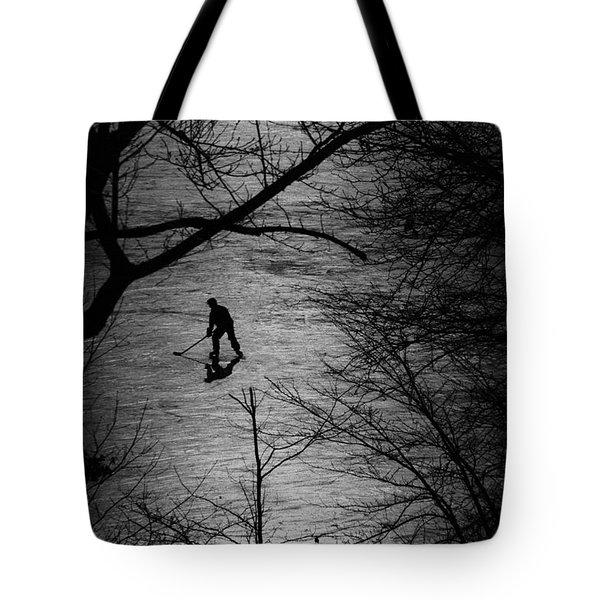 Hockey Silhouette Tote Bag