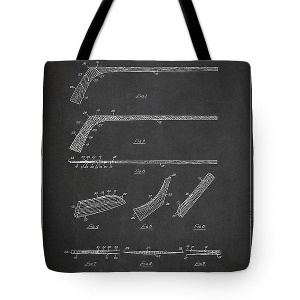 Hockey Stick Patent Drawing From 1934 Tote Bag by Aged Pixel
