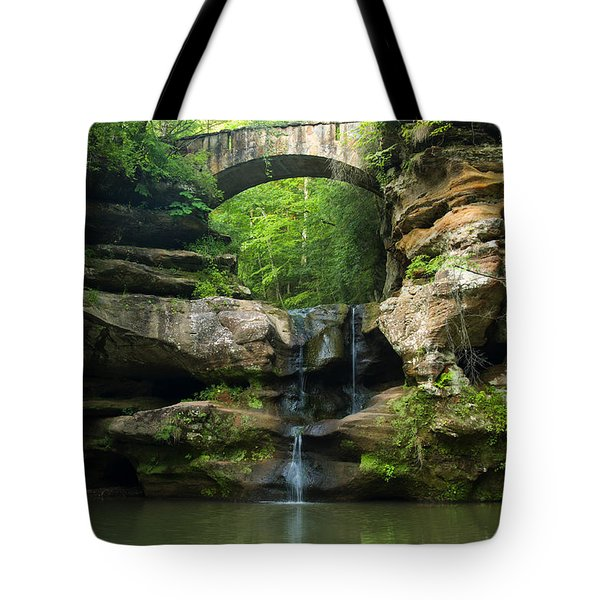 Hocking Hills Waterfall 1 Tote Bag