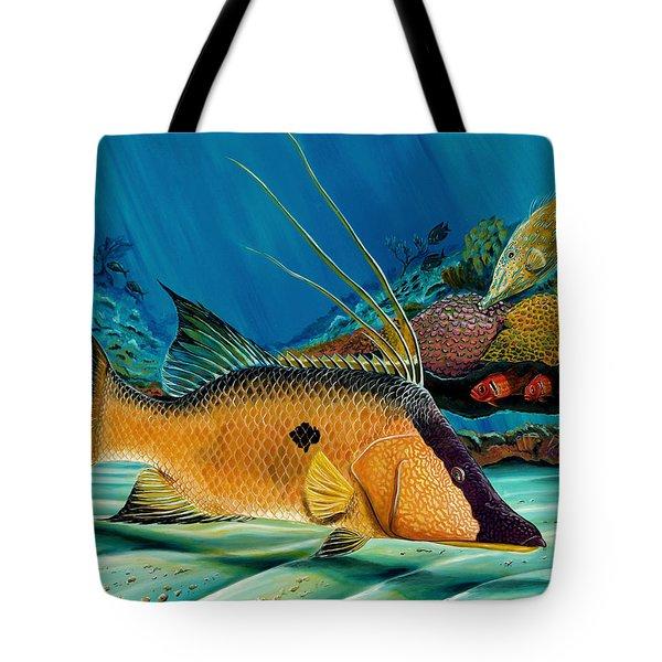 Hog And Filefish Tote Bag