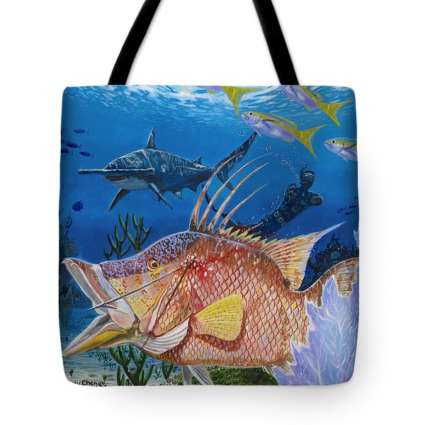 Hog Fish Spear Tote Bag by Carey Chen