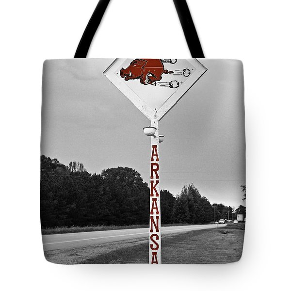 Hog Sign Tote Bag