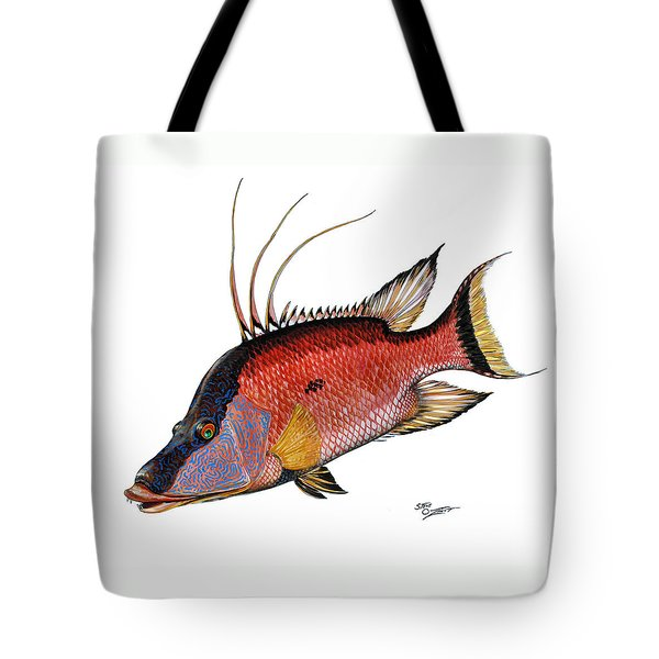 Hogfish On White Tote Bag