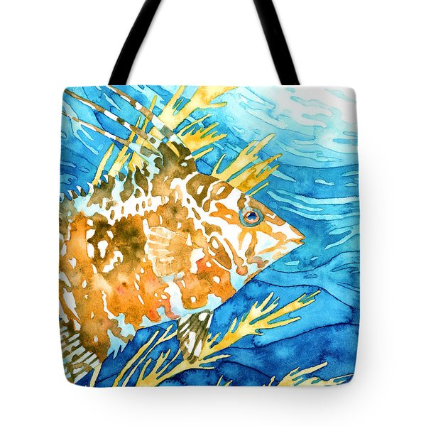 Hogfish Portrait Tote Bag