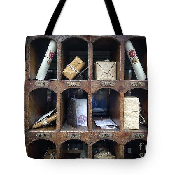 Hogsmeade Owl Post Office Tote Bag by Edward Fielding