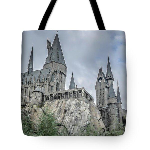 Hogswarts Castle  Tote Bag by Edward Fielding