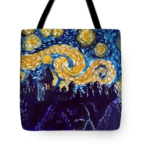 Hogwarts Starry Night Tote Bag by Jera Sky