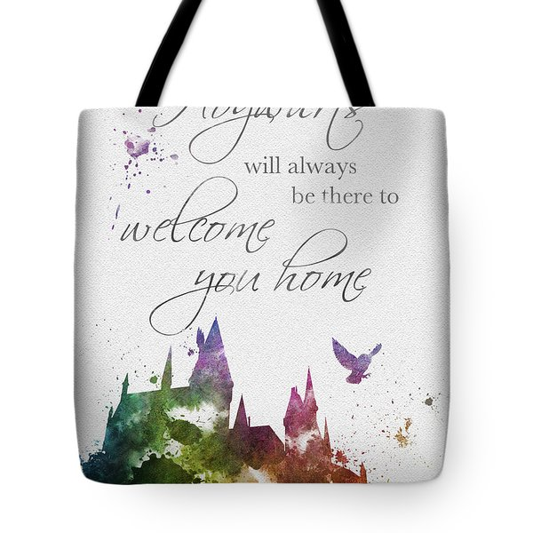 Hogwarts Will Welcome You Home Tote Bag
