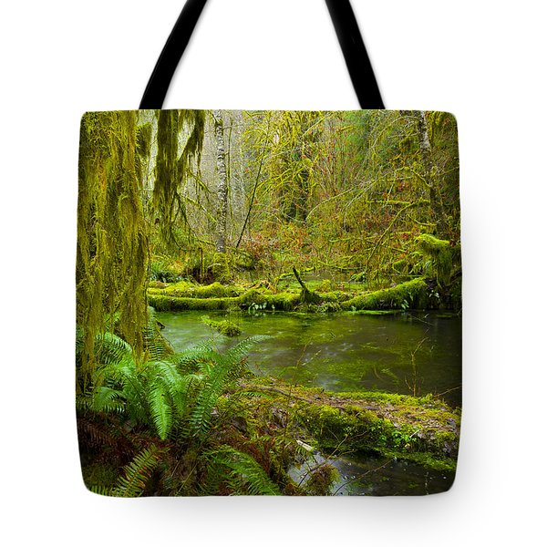 Hoh Rainforest 3 Tote Bag by Joe Doherty