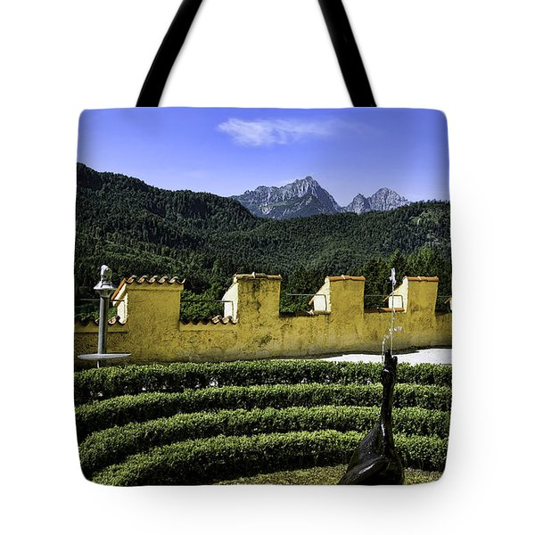 Hohenschwangau Swan Tote Bag by Joanna Madloch