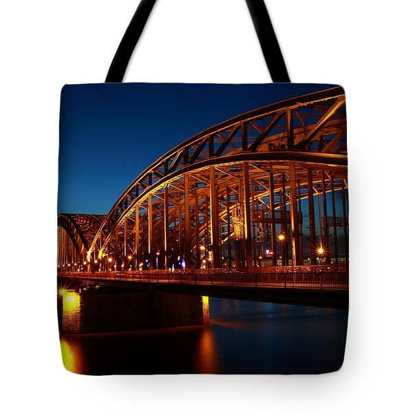 Tote Bag featuring the photograph Hohenzollern Bridge by Mihai Andritoiu