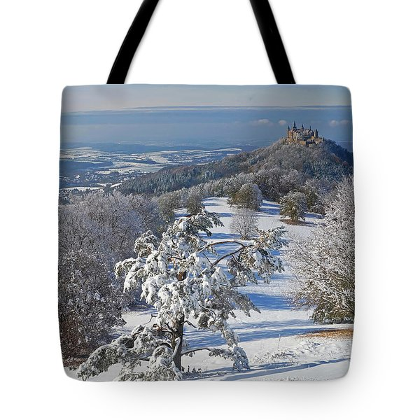 Tote Bag featuring the photograph Hohenzollern Castle 2 by Rudi Prott