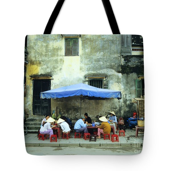 Hoi An Noodle Stall 02 Tote Bag by Rick Piper Photography
