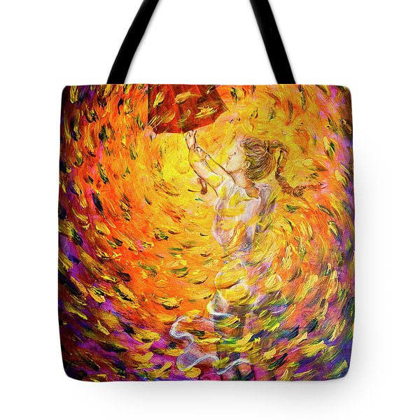 Tote Bag featuring the painting Hold Back The Rain II by Nik Helbig