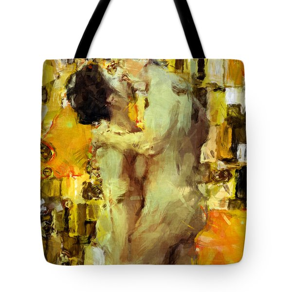 Hold Me Tight Tote Bag by Kurt Van Wagner