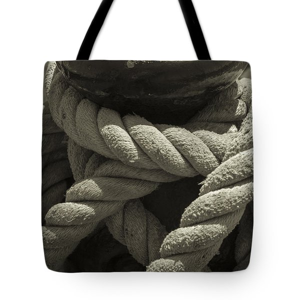 Hold On Black And White Sepia Tote Bag