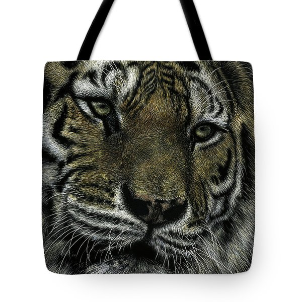 Tote Bag featuring the drawing Holding Court by Sandra LaFaut