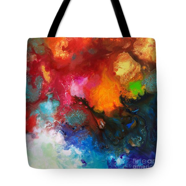 Holding The High Watch Canvas Three Tote Bag