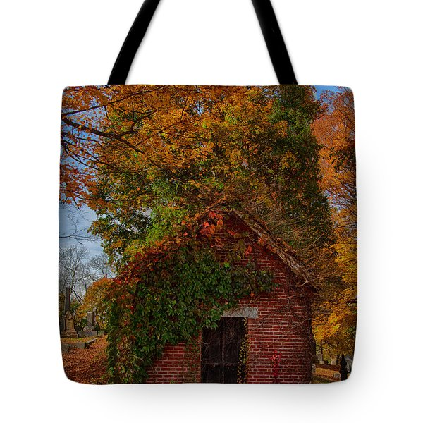 Tote Bag featuring the photograph Holding Up The  Fall Colors by Jeff Folger