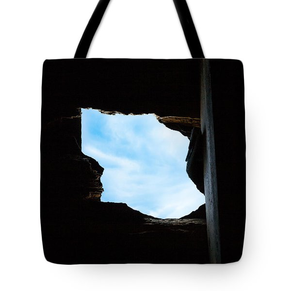 Tote Bag featuring the photograph Hole In The Roof  by Gary Heller