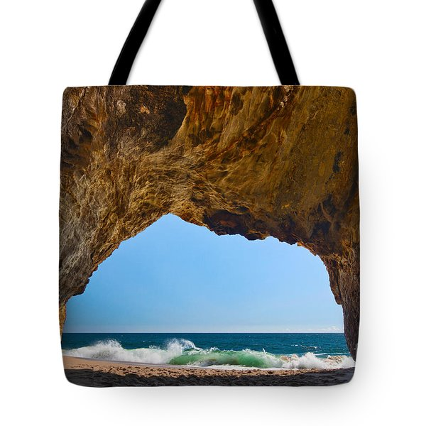 Hole In The Wall - Natural Tunnel In Santa Cruz Tote Bag
