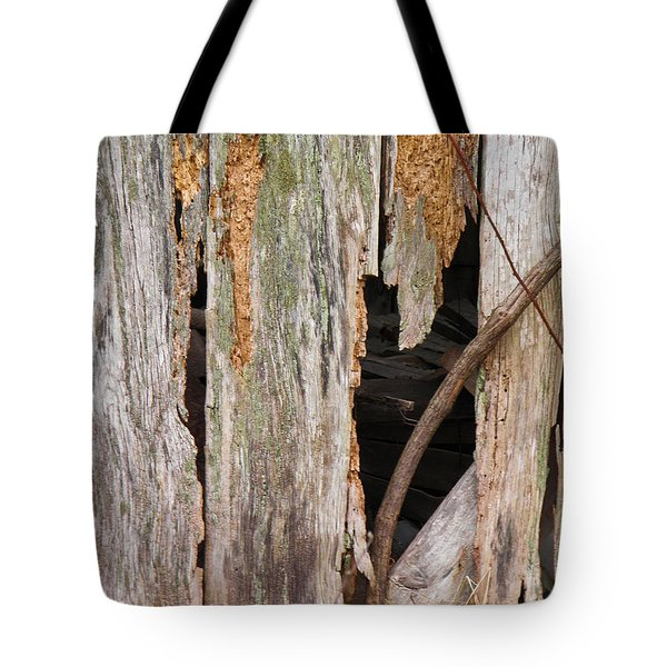 Tote Bag featuring the photograph Holey Smokehouse by Nick Kirby