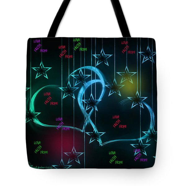Holiday 2-featured In 'visions Of The Night And The Christian Connection' Tote Bag by EricaMaxine  Price