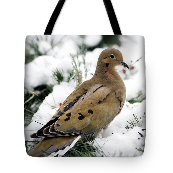 Holiday Dove Tote Bag by Christina Rollo