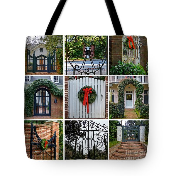 Holiday Gates Of Aiken's Winter Colony Tote Bag