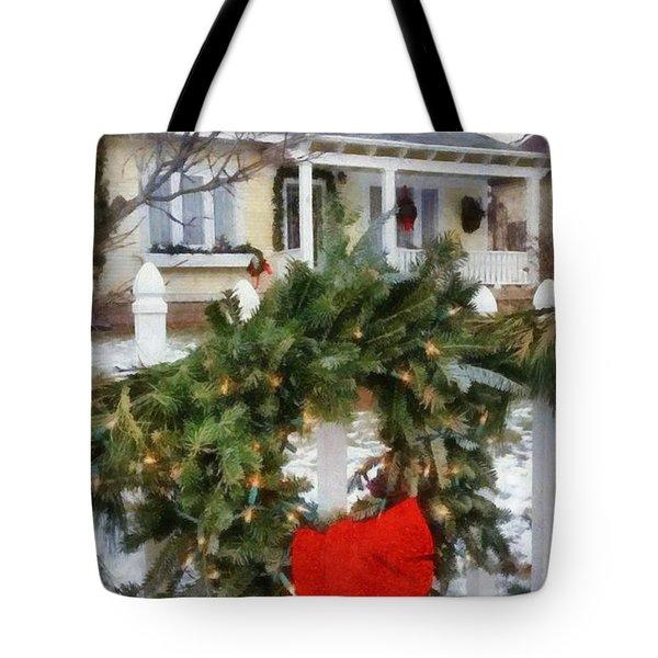 Holiday In The Neighborhood Tote Bag