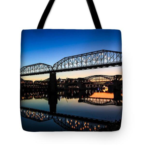 Holiday Lights Chattanooga Tote Bag