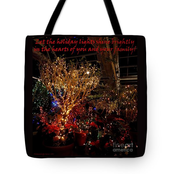 Holiday Lights Greeting Card Tote Bag