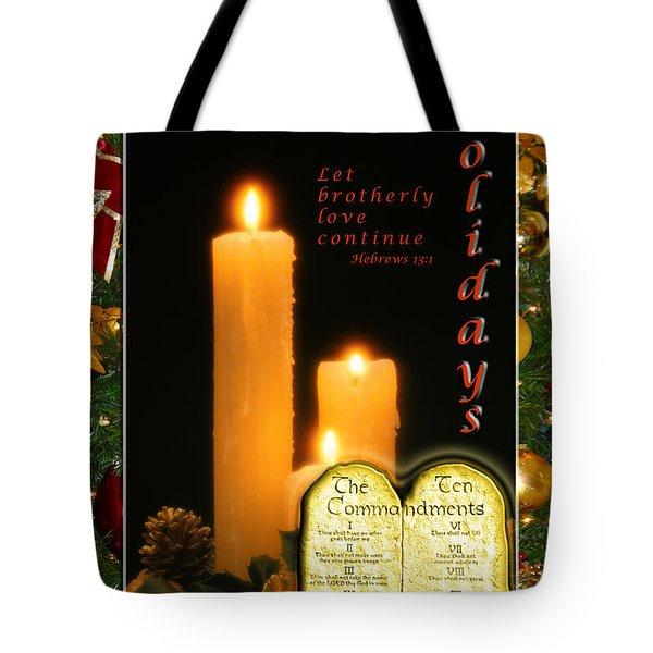 Holiday Love Declaration Tote Bag