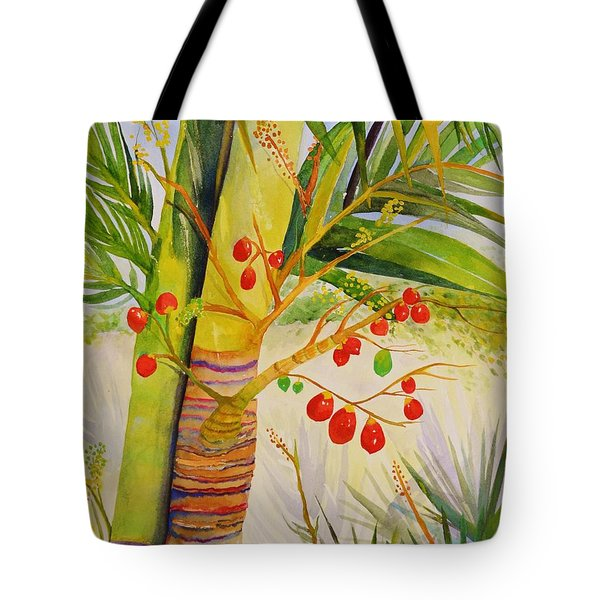 Holiday Palm Tote Bag