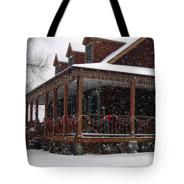Holiday Porch Tote Bag