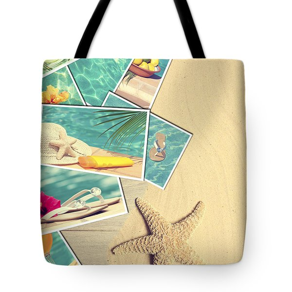 Holiday Postcards Tote Bag by Amanda Elwell